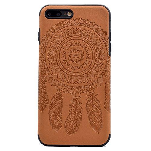 Apple iPhone 7 Plus 5.5 Hülle, Voguecase Schutzhülle / Case / Cover / Hülle / TPU Gel Skin (Datura Blumen/Rosa) + Gratis Universal Eingabestift Campanula Blume/Braun