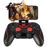 Gamepad, WZTO Mando para PC Inalámbrico Compatible con PC (Windows XP / 7/8 / 8.1 / 10) y PS3, Android, Vista y Rango de Hasta 10M