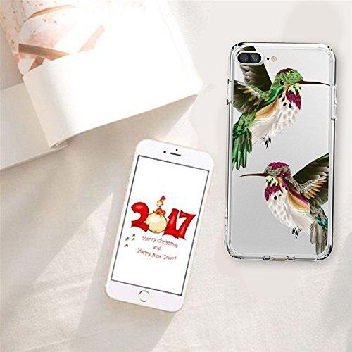 iPhone 7 Plus TPU Gel Etui,MingKun Ultra Mince Transparente Soft TPU Silicone Clair Transparente Case iPhone 7 Plus 5.5 pouces Cover pour iPhone 7 Plus 5.5 pouces Clair Étui Housse Ananas Peinture Sér Nouvelle photo-2