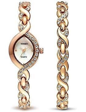 Time100 moderne Diamond Damenuhr Mädchenuhr Armbanduhr #W50119L.02A
