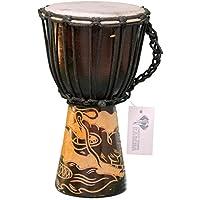 Professionale 30cm Djembe Tamburo Busch Africa della Style intagliati a mano in legno di mogano Drago - Mano Drago