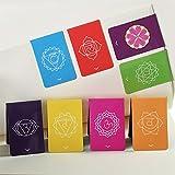 """Chakra Segnalibri Magnetici con Indicatori """"Vieni al Punto"""" Bellissimi Mandala Colorati e Informazioni su entrambi i lati del Supporto ((2,7 cm x 4 cm Piegato, 8 Pezzi)"""