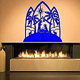 zqyjhkou Bébé Jésus Christ Stickers Muraux pour Le Salon Décoration pour La Décoration Intérieure Vinyle Amovible Stickers Muraux Chambre Art Affiche 4 57X60cm