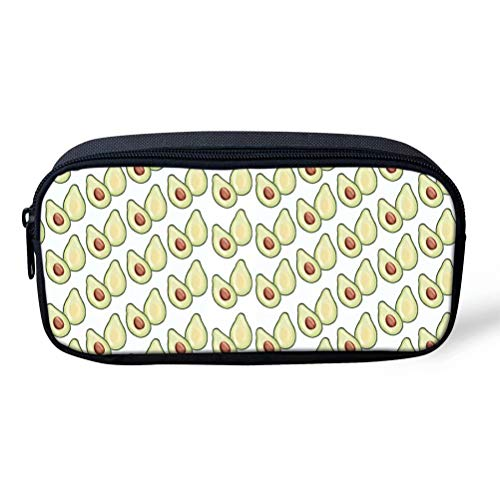 Casual Avocado (Federmäppchen Stilvolle Avocado Muster Kinder Casual Chic Desktop Stationery Bleistift Halter Fall 8 66 Inch(L) X1 77 Inch(W) X4 33 Inch(H) Avocado 1 (Color : Avocado-3, Size : One Size))