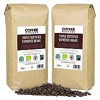 Coffee Masters Triple Certified, Organic, Fairtrade, Arabica Coffee Beans (4x1kg) - GREAT TASTE WINNER 2018