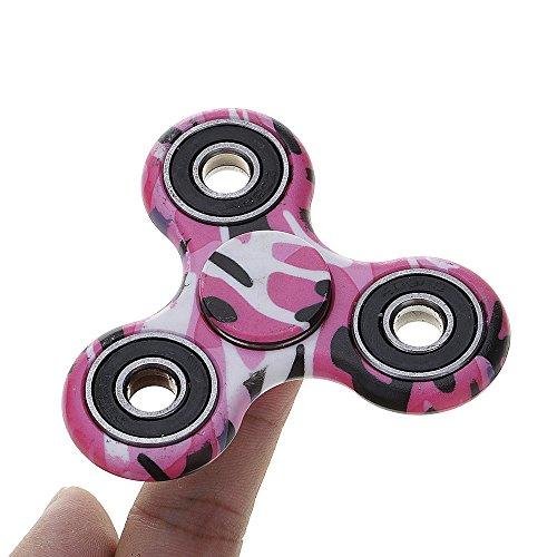 GGG spinner camuflaje ADHD ansiedad Autismo Reductor de estrés Fidget mano Tri Spinner EDC regalo de juguete color azar - 3
