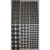 Filzgleiter selbstklebend Grau meliert Klebe-Filz Möbelgleiter 6 Größen Auswahl Rund 20mm 44 Stück im Set
