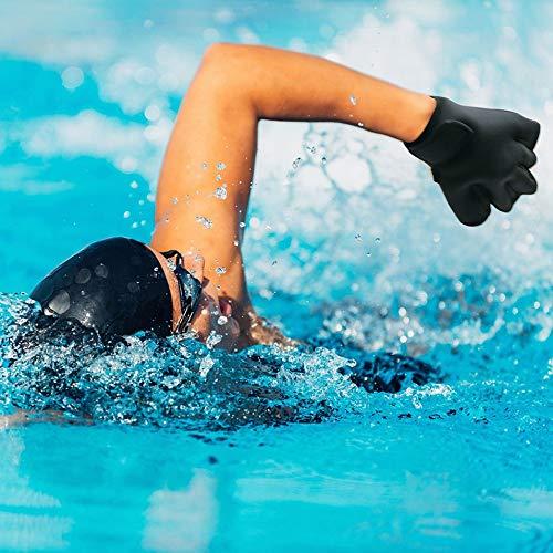 HermosaUKnight 2mm Schwimmen Handschuhe Surfen Wassersport Paddel Webbed Ausbildung Ente Palm Handschuhe Erwachsene Unisex Schnorcheln Tauchausrüstung-Schwarz (M)