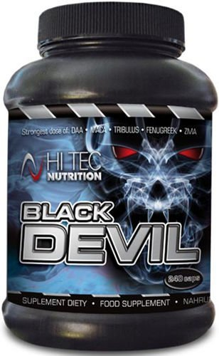 Strong Testosterone and Anabolic Hormones Booster, Hi Tec Nutrition Black Devil, 240 caps
