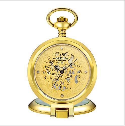 mzq mzq Flip-mechanische Taschenuhr schnitzen ausgehöhlten Klassische Tasche Uhr hängend Tabellen Geschenke für Herren