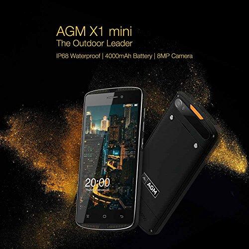AGM X1  Mini Smartphone 4  G LTE Tel  fono M  vil para exteriores IP68  4000  mAh 5 0  pulgadas HD 2  GB RAM 16  GB ROM Android 6 0  Dual SIM sin Cont
