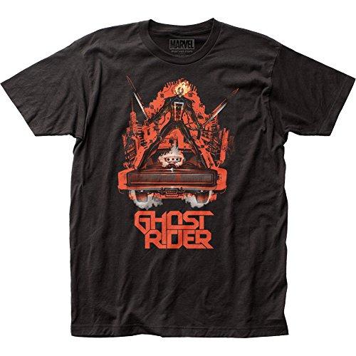 Ghost Rider Erwachsene ausgestattet Jersey T-Shirt Tee Gr. Medium, schwarz (Ghost Schädel Rider)