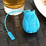 Loose Leaf Owl Tea infuser - Best Silicone strainer – Funny Tea Filters – Cute Tea Infuser Design – Set In Bright Colors (Set of 3) - No Tea Leafs In Your Cup – Don't Sleep – Drink Tea