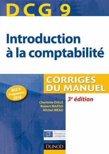 DCG 9 - Introduction à la comptabilité - 2e édition - Corrigés
