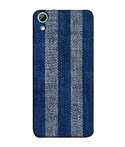 PrintVisa Designer Back Case Cover for HTC Desire 826 :: HTC Desire 826 Dual Sim (Cloth Fabric Design Sky Blue Matte)