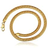 Aeici Schmuck Legierung Anhänger Halskette für Damen Fischgrätenkette Halskette Gold Dimension: 50X0.08CM