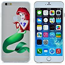 Phone Kandy® Claro transparente Caso de Shell duro de la piel y la pantalla del protector para el iPhone de la historieta carcasa funda (iPhone 6 Plus (5.5 pulgada), Ariel)