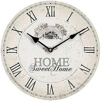 Premier housewares wanduhr 39 home sweet home 39 mdf for Orologi da parete maison du monde