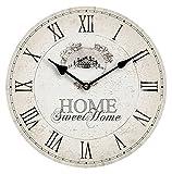 Premiere Housewares 2200542 Orologio da Parete, Home Sweet Home, MDF