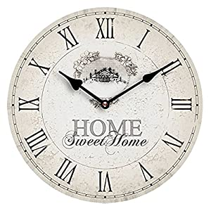 Premier Housewares MDF Home Sweet Home Wall Clock