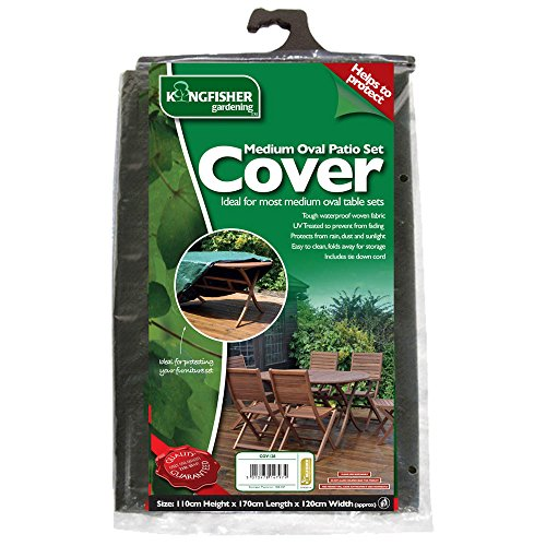 Medium Oval Patio Set Cover - Protect Your Furniture! - Garden - Kingfisher - Patio Bank