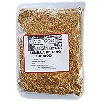 Semillas de Lino Dorado - 1kg - Rica fuente de ácidos grasos Omega 3, fibra y nutrientes