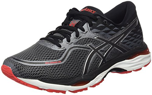 Asics Gel-Cumulus 19, Chaussures de Running Homme, Noir (Black/Carbon/Fiery Red 9097), 44 EU