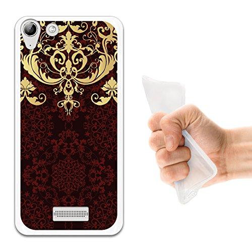 WoowCase Wiko Selfy 4G Hülle, Handyhülle Silikon für [ Wiko Selfy 4G Barockmuster Handytasche Handy Cover Case Schutzhülle Flexible TPU - Transparent