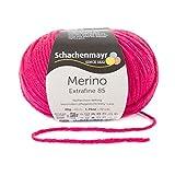 Merino Extrafine 85 Schachenmayr cyclam (Fb 238)* 50g Knäuel* Merinowolle zum stricken von Mützen und Schals in pink* 100% Merino Wolle* Strickgarn Merino* Nadelstärke 4,5-5,5 mm* GRATIS MyOma Label