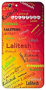 Lalitesh (God of beauty, husband of a beautiful wife) Name & Sign Printed All over customize & Personalized!! Protective back cover for your Smart Phone : Moto G-4-Plus