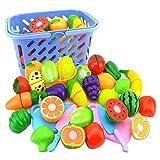 Covermason Jeu d'imitation, Jouet Alimentaire Plastic Fruit Vegetable Cuisine Cutting...