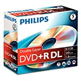 Philips DVD+R DoubleLayer 8.5GB 8x Rohlinge 5er Pack Jewelcase