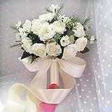 Unbekannt Blumen Hochzeit Hand,1 Blumenstrauß Künstliche Seide Blumen Für Haus Dekoration Hochzeit Dekor Braut Halten Blumen Floral Dekore