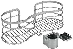 metaltex cestello portasapone da doccia fissaggio senza fori colore argento edelstahloptik. Black Bedroom Furniture Sets. Home Design Ideas