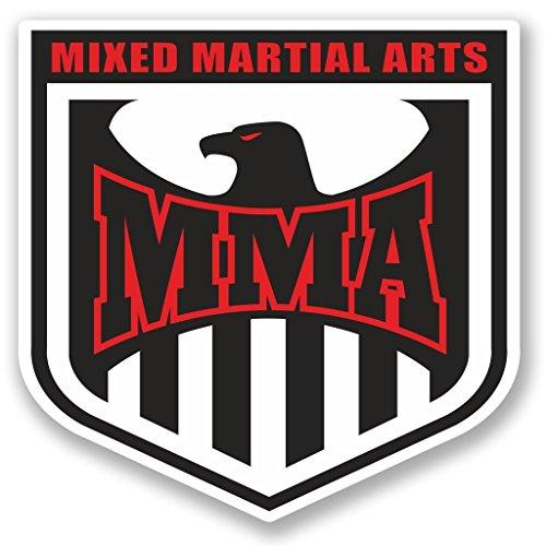 2 x 10cm/100mm MMA Mixed Martial Arts Vinyl Selbstklebende Sticker Aufkleber Laptop Reisen Gepäckwagen Cool Zeichen Spaß #5173 -