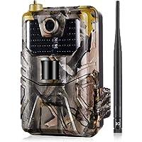 SUNTEKCAM 3G Caméra de chasse MMS/SMTP 20 MP 1080P Wildlife étanche IP66, vision nocturne invisible, appareils photo de…