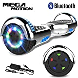 Mega Motion Self Balance Scooter6,5-2018 Elektro Scooter E-Skateboard - Scooter - UL zertifizierten 2272 LED - Räder mit LED Licht -Bluetooth Lautsprecher – 700W Motor