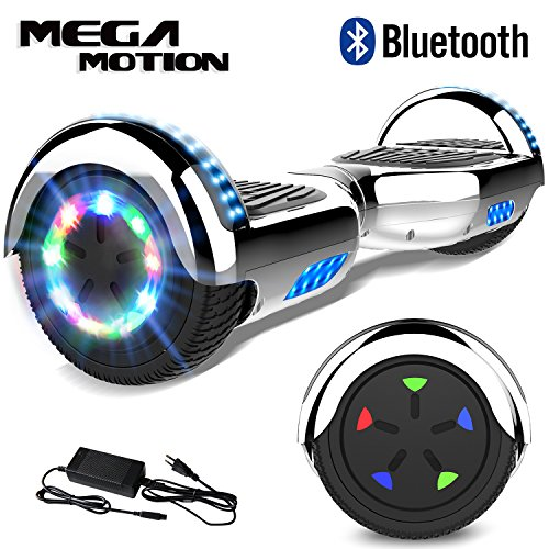 Mega Motion 6.5 Pulgadas Hoverboard E-Shine- 2018 Scooter Eléctrico Self-Balance E-Skateboard Certificado UL 2272 LED-Ruedas y Luz LED-Altavoz Bluetooth