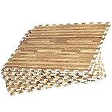 GORILLA SPORTS Schutzmatten Set 8 Bodenschutzmatten in verschiedenen Farben 60x60cm | Bodenschutz Puzzlematten (holzoptik)