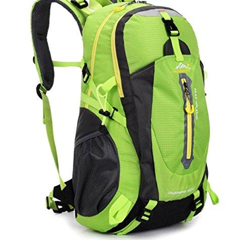 LQABW Viaggi D'escursione Esterni Borsa A Tracolla Impermeabili Ordenador Zaino 40L,Orange Green