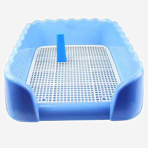 OLT -Pet toilet Outdoor Indoor Haustier Welpen Haustier Tablett WC Katzen Training Töpfchen Mesh Pad tragbare Haustier Litterbox (Color : Blue)