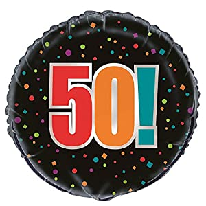 """Partido Ênico de 18 pulgadas Foil""""Cumpleaños Cheer"""" 50mo Cumpleaños"""
