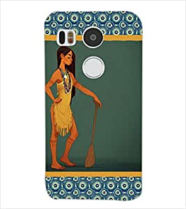 Fuson Nice Girl Back Case Cover for LG NEXUS 5X - D3652