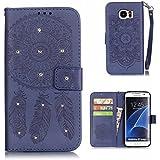Galaxy S7 Edge Coque [avec Gratuit Protection D'écran en Verre Trempé], BoxTii® Etui Coque Housse Premium Case Cover pour Samsung Galaxy S7 Edge (#7 Bleu)