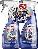 2x SONAX XTREME Felgenreiniger PLUS (500 ml) effiziente & säurefreie Reinigung aller Leichtmetall- und Stahlfelgen sowie lackierte, verchromte und polierte Felgen | Art-Nr. 02302410