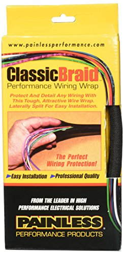 painless wiring 70958 1/2 inch classic braid 10 ft boxed