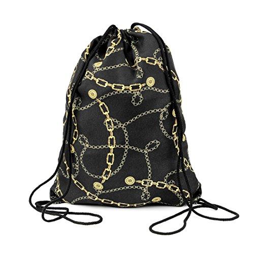 4sold - Bandeau -  Femme Gris gris Gris - gold chains