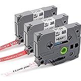 Anycolor 3Stück Schriftband Kompatibel Brother Original P-Touch TZE 12mm für Valentinstag und Geschenkverpackung für P-Touch 1000W 1010 PT-1230PC PT-H105 PT-H110 PT-H300