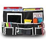 Fancii 10 Bolsillos Organizador de la Cama - Organizador de almacenamiento colgante para libros, teléfonos, tabletas, accesorios y televisor - Mejor para cabeceros, trenes de cama, dormitorios, literas, apartamentos, baños y viajes