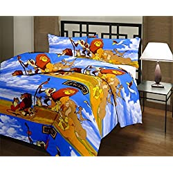 Monil Lion King Cartoon Character Kids Single Bed Reversible AC Dohar/Blanket (Set of 1)